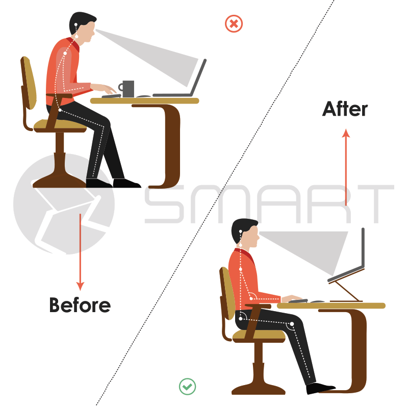 Smart Laptop Stands Before and After